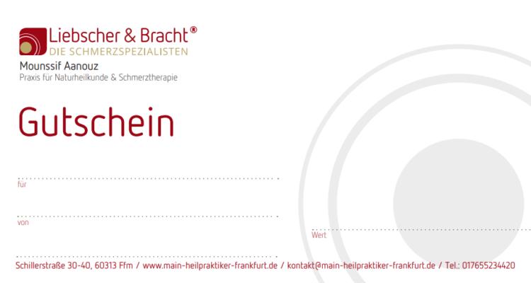 Gutschein Praxis für Naturheilkunde & Schmerztherapie nach Liebscher und Bracht Frankfurt 2